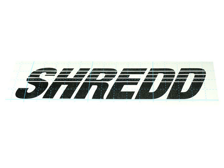 SHREDD STICKER Die-Cut Black