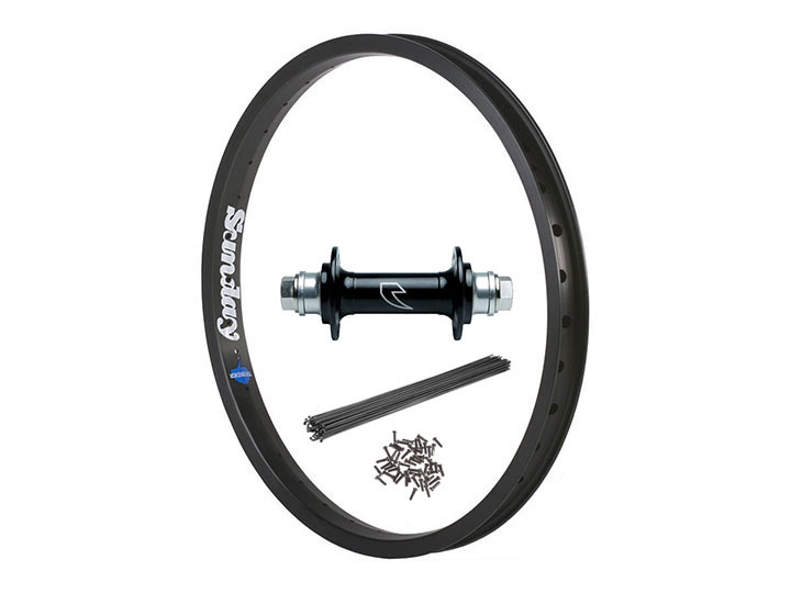 TALL ORDER GLIDE HUB + SUNDAY THUNDER RIM FRONT WHEEL SET -Black-