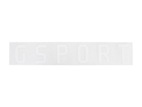 GSPORT Rim Sticker (Die-Cut) -White-