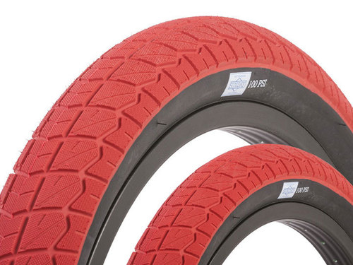 "CURRENT BMX TIRE 2.4"" RED + Black Wall 2개 셋트 이벤트"
