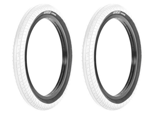 [재입고]SUNDAY STREET SWEEPER BMX TIRE 2.4 -White- 2개 패키지