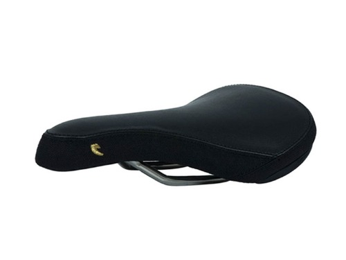 TALL ORDER Slim Titanium Railed Seat -Black With Gold Logo