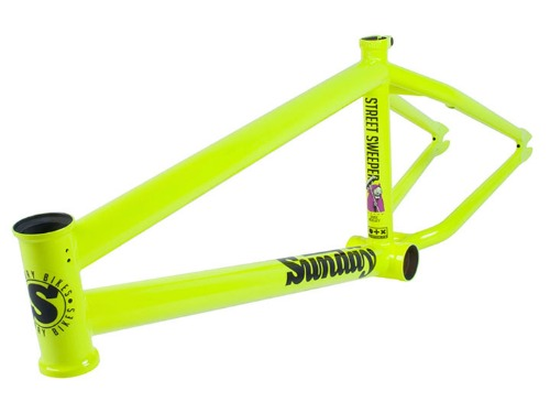 [리미티드컬러]SUNDAY JAKE SEELEY STREET SWEEPER BMX FRAME FLUORESCENT YELLOW [20.5TT]