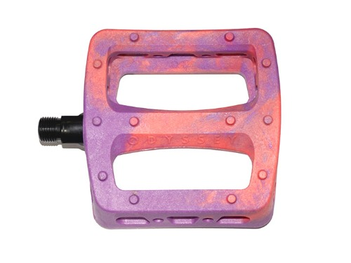 ODYSSEY TWISTED PRO PC PEDALS -Purple/Bright Red Swirl-