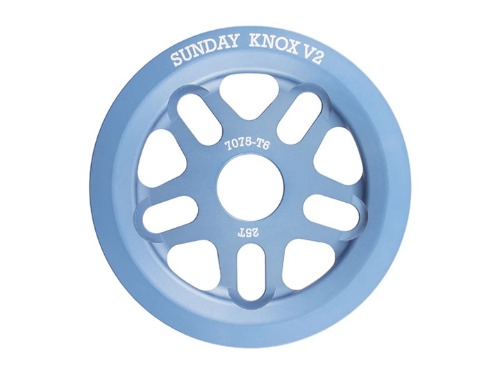 SUNDAY KNOX V2 SPROCKET Frost Blue -25T-