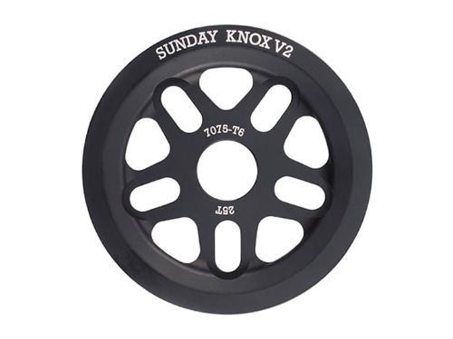 SUNDAY KNOX V2 SPROCKET Black -25T / 28T-