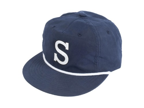 "SUNDAY BIG ""S"" UNSTRUCTURED HAT Navy"