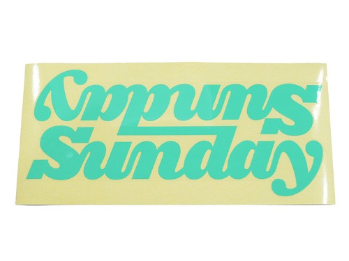 SUNDAY BIG CLASSY CONNECTED DT DECAL - GLOSS MINT GREEN