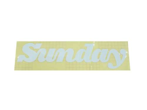 SUNDAY CLASSY LOGO BIG/RAMP DECAL White Die-Cut Transfer
