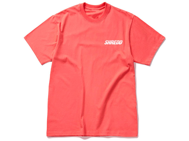 SHREDD SHORT T-SHIRT Ver.3 Coral