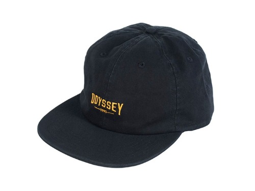 ODYSSEY SKEW UNSTRUCTURED HAT Black