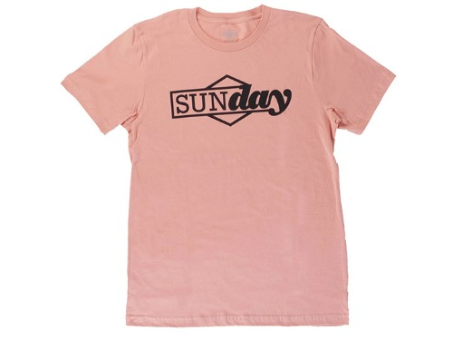 SUNDAY COMPOSITE TEE Peach