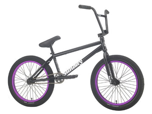 "[판매 시작 10분만에 조기 품절]2021 선데이 포어케스터 SUNDAY FORECASTER 'ALEC SIEMON' SIGNATURE 20.75""TT BMX -Gloss Black with Purple Rims-"